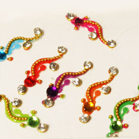 Multicolor Bindis, Self Adhesive, Crystal Bindis, Designer Bindi, Forehead Jewelry Decorations for Makeup.