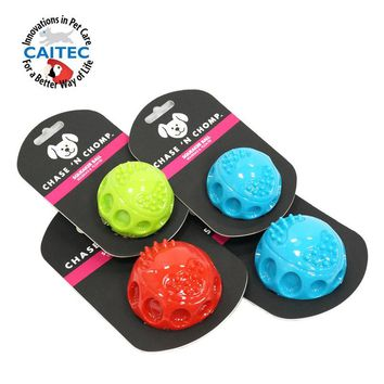 CAITEC Dog Toys Squeaking Bouncing Ball Durable Floatable Springy Pet Toys Squeaky Ball Bite Resistant for Small to Large Dogs