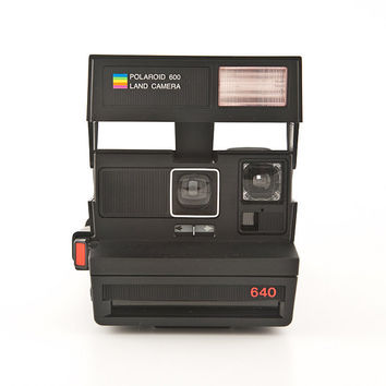 Polaroid 640 Land Camera with Impossible Frog Tongue - film Tested - Working vintage 80s Polaroid 600