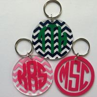 Round acrylic bag tag/key chain with by LoveBugGifts1 on Etsy