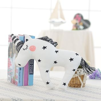 Cute unicorn pillow bear ribbit cloud rainbow pillow baby cushion home decor fox pillow soft Soothing pillow for baby