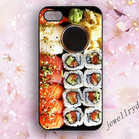 Sushi iphone Case,Sushi Dinner iPhone 5/5s case,food iPhone 5C case,sushi funny iphone 4/4s  cover,Samsung Galaxy s3 s4 s5 case