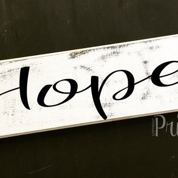 12x4 Hope Wood Sign