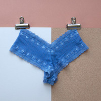 Delicate Blue Lace Knickers by Brighton Lace