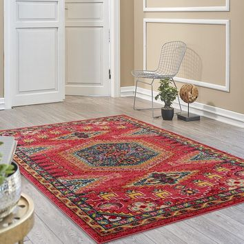 2935 Red Rust South Western Oriental Area Rugs