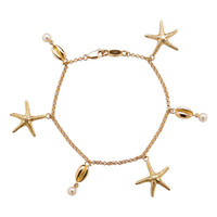 Starfish and Cowrie Bracelet in 18ct Gold - Patrick Mavros