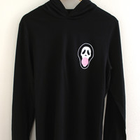 Ghostface Blowing Bubblegum Black T-Shirt Hoodie