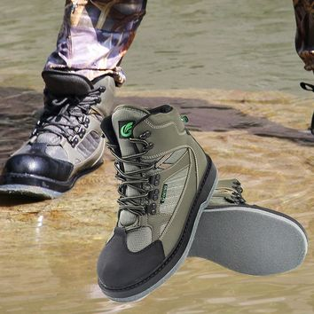 Quick Dry Men's Fly Fish Shoes for Waders Fishing Waders Outdoor Hunting Wading Shoes Fishing Boots with Felt Sole
