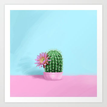 Cactus Flower Serie 1 Art Print by lostanaw