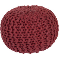 Stewart Knitted Pouf BRIGHT RED