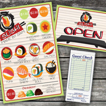 Pretend Play Restaurant Menu - Sushi Shop