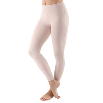 Women's Poly Active Long Yoga Compression Leggings - Peach Pink
