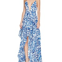 The Jetset DiariesIndigo Jungle Ruffle Maxi Dress