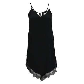 Silk and Lace Slip Dress