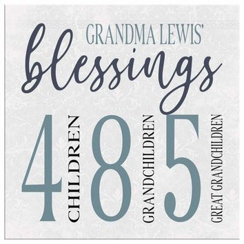 Grandma Lewis Blessings Personalized Canvas Print