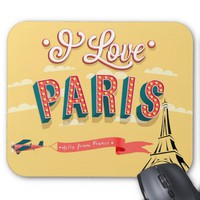 I love Paris vintage style mousepad