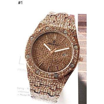 Audemars Piguet Tide brand men and women full of diamonds British watch #1