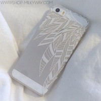 Plastic Case Cover for iPhone 5 5S 5C 6 6Plus (Pick One) Henna Abstract Feathers tribal native ethnic american indian