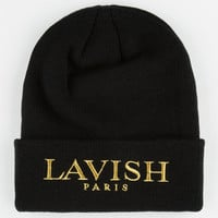 Dope Lavish Beanie Black/Gold One Size For Men 24641577401