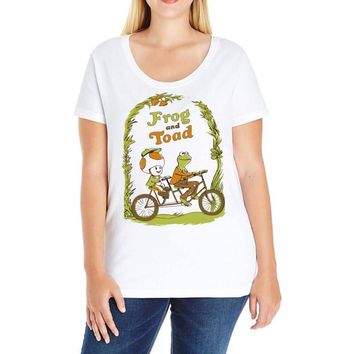frog & toad Ladies Curvy T-Shirt