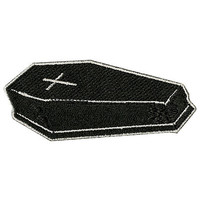 Coffin Iron-On Patch