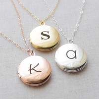 Classic Round Locket Necklace