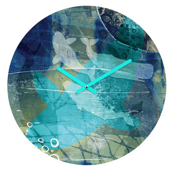 Barbara Chotiner Ocean Dream Round Clock
