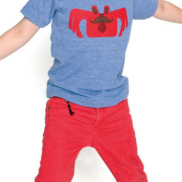 Crabman Applique Tank Top or Tee