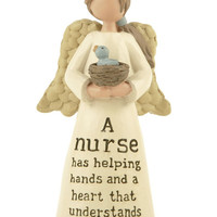 A Nurse Has Helping Hands And A Heart That Understands - Nurse Figurine with Birds Nest