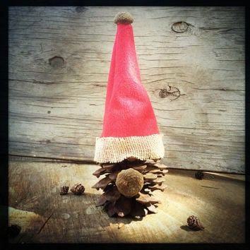 Christmas decoration Santa Claus pinecone