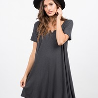 Flare Ribbed Dress