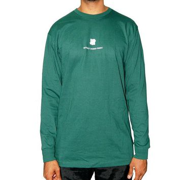 ONETOW Undefeated Officially Licensed Product  Long Sleeve Tee In Olive