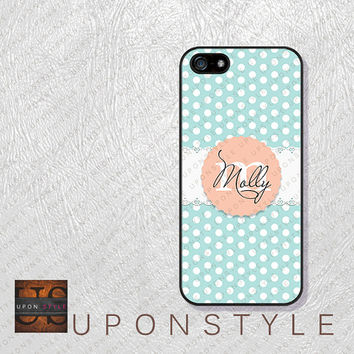 Phone Cases, iPhone 5S Case, iPhone 5 Case, iPhone 5C Case, iPhone 4 case, iPhone 4s case, Polka Dot, Case for iphone No-5D0032