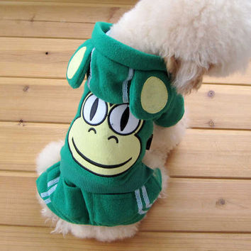 Adorable Dog Clothing Accessory Featuring GREEN Frog & Polyester Material-Size 4