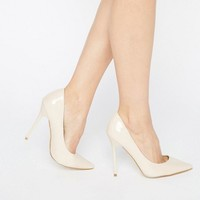 Public Desire Josie Nude Court Shoes at asos.com