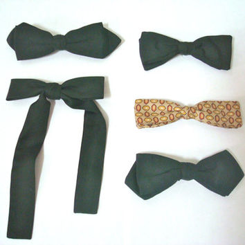 Vintage Mens Bow Ties Neckties Neck Ties Bowties  Lot of Five