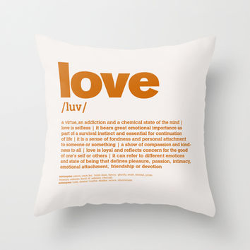 definition LLL - Love 8 Throw Pillow by colli13designs:by Su