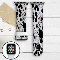 Mickey Mouse Collage Custom Apple Watch Band Leather Strap Wrist Band Replacement