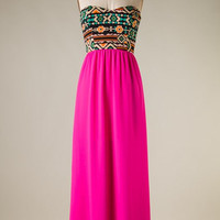 Fall in Love Maxi - Pink - Hazel & Olive