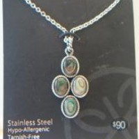 eBlueJay: Kate Markus Abalone Shell Necklace Stainless Steel Jewelry Fashion Accessories For Her