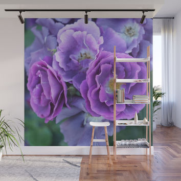 Deep purple roses. Wall Mural by albert12001