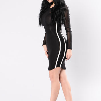 What's Your Flava Dress - Black
