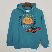 Gucci UFO Embroidered Sequins Sweater Hoodie