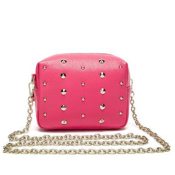Women chain Crossbody Bags Mini rivet women's shoulder messenger bag small ladies bag