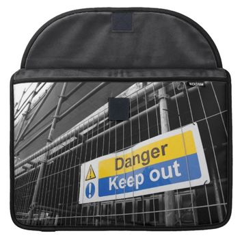 Danger Keep Out sign Macbook Pro sleeve