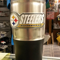 NFL Pittsburgh Steelers 18 oz Heavy Duty Travel Tumbler