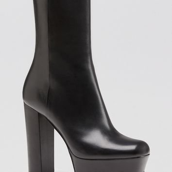 Gucci Platform Boot - Claudie Mid Shaft High Heel