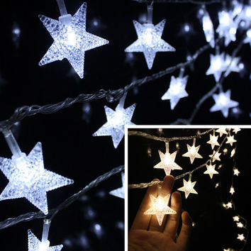 100Leds 10M Christmas Outdoor Fairy String Lights Wedding Garden Luces Led Navidad Indoor Light Curtain String Decorative Lights