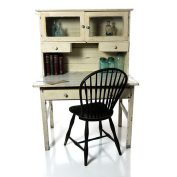 Antique Hutch Cabinet Kitchen Apothecary by DailyMemorandum