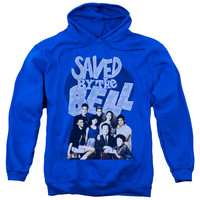 SAVED BY THE BELL/RETRO CAST-ADULT PULL-OVER HOODIE-ROYAL BLUE